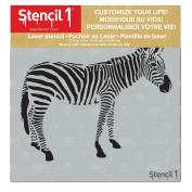 Zebra Stencil 15cm x 15cm