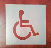 4 Handicap Sign Stencil