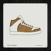 Shoe Basketball Fashion Foot Sneak Style 19591 DIY Plastic Stencil Acrylic Mylar Reusable