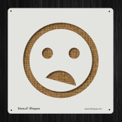 Shocked Emoticon Emotion Face Frown Style 19575 DIY Plastic Stencil Acrylic Mylar Reusable