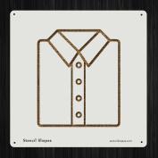 Shirt Work Clothes Attire Formal Style 19564 DIY Plastic Stencil Acrylic Mylar Reusable