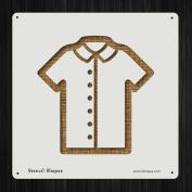 Shirt Short Sleeve Button Up Style 19563 DIY Plastic Stencil Acrylic Mylar Reusable