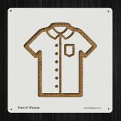 Shirt Short Sleeve Button Up Style 19562 DIY Plastic Stencil Acrylic Mylar Reusable