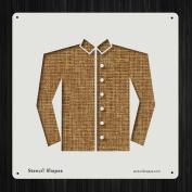 Shirt Button Clothes Clothing Fabric Style 19555 DIY Plastic Stencil Acrylic Mylar Reusable