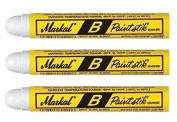 3 Each White Markal 80220 B Paintstik Solid Paint Marker