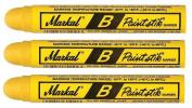 3 Each Yellow Markal 80221 B Paintstik Solid Paint Marker