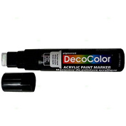 Single Black Decocolor Paint Marker Pen Extra Broad Line Point 1.3cm Tip Water Based Acrylic for Wood Plastic Paper Foam