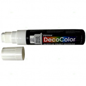 Single White Decocolor Paint Marker Pen Extra Broad Line Point 1.3cm Tip Water Based Acrylic for Wood Plastic Paper Foam