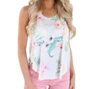 Citycool Women's Sexy Loose Print Sleeveless Tank Crop Tops Vest