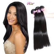 Xblhair Brazilian Virgin Hair 3 Bundles Straight Weave 7A Grade 100% Unprocessed Remy Human Hair Extensions Natural Colour (20 20 20) 100g/pc Total:300g