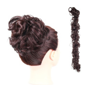 DENIYA Bun Updo Messy Hair Hairpiece Extensions Synthetic Hair Scrunchy Wavy Curly Scrunchie Hairpiece Wrap On
