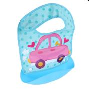 Dovewill Baby Kids Children Silicone Bib Adjustable Waterproof Feeding Bibs Crumb Catcher - Style 4, as described