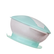 Atickbase Gravity Slip-Resistant Wall Suction Dinnerware Baby Learning Dishes With Suction Cup