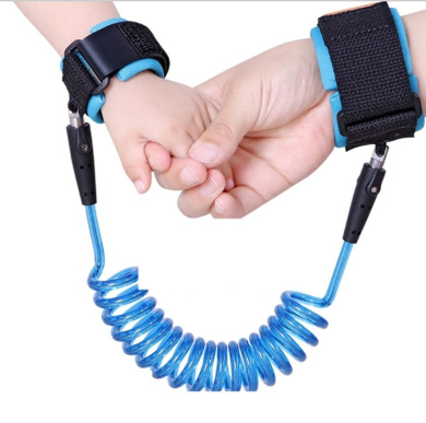 Anti Lost Wrist Link Traction Rope Toddler Baby Kids Safety Harness Cut Continuously Child Leash (Blue)