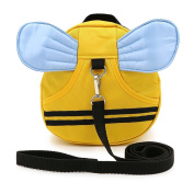 HanLingGG Baby Walking Safety Harness Reins Little Kid Toddler Anti-lost Travel Bag Cute Cartoon Mini Backpack with Safety Leash for Baby 1-3 Years Old Bee with Blue Wings
