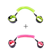 Xiaoyu 2 Colours Baby Anti-lost Belt, 360 Degree Rotation, Child Walking Safety Toddler Harness, Green & Pink, 1.5MM