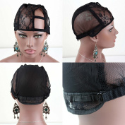 Dreambeauty Black Colour Full Lace Cap and U Part Cap High Quality Lace Cap for Making Wigs
