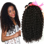 Beauty Hair Unprocessed Malaysian Virgin Curly Hair Extensions 3 Bundles 100% Real Malaysian Human Hair Weave 8A Grade Natural Black Colour Full Head 14 16 46cm