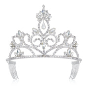 DcZeRong Crown Tiara Prom Queen Crowns Rhinestone Tiaras and Crowns for Women Crowns Pageant Crowns
