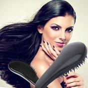 Garrelett Detangling Brush, Paddle Wet Shower Bath Hair Brush Beauty Styling Care Hair Comb - No More Tangle - Adults & Kids Black