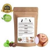 Juniper Pure Coffee Scrub - 100% Natural Exfoliating, Body & Face, Stretch Marks, Cellulite, Jojoba & Almond Essential Oils, Coconut, Cacao Butter, Sea Salt