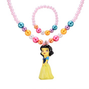 MBOX Childrens Girls Jewellery 2pc Faux Pearl Princess Bracelet & Necklace Set