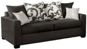 Furniture of America Fleurille Modern Upholstered Sofa, Medium, Grey