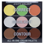 CITY colour All-In-One Face Cream Palette Correct, Highlight and Contour F-0070