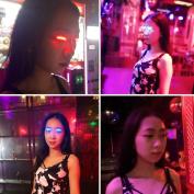 Fashion ! Iusun LED False Eyelashes Eyelid Eye Lashes For Icon Saloon Pub Club Bar Party