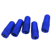 MagiDeal 5pcs Bicycle Presta Wheel Rims Tyre Stem Air Valve Caps Dust Cover - Blue