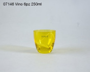 Set of 6 Glasses Vision Yellow 250 ml