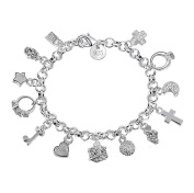 Demarkt Women Girls Charm Fashion Thirteen Chain Silver Bracelet Elegant Women's Jewellery