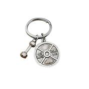 weight charm fitness keychain gym jewellery fitness keyring weight lifting barbell keychain