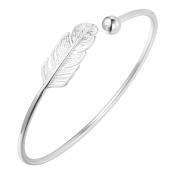 Beautiful 925 Sterling Silver Leaf Infinity Boho Cuff Bangles & Bracelets Accessories for Girls Women Gift . Jewellery