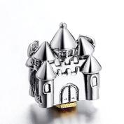 Princess Disney Castle Silver Bead Fits Pandora Chamilia Etc Sterling Charms Bracelets Necklaces
