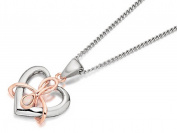 Clogau Womens Jewellery Sterling Silver 9ct Rose Gold Dwynwen Opal Heart Pendant