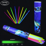 Light Sticks KYC 24 30cm Light Up Glow Sticks- Play in Party Mixed Colours Supplies