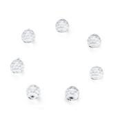 7PCS Feng Shui Yoga Reiki Seven Chakras Crystal Ball Prisms, 40MM