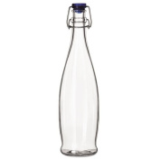 LIB13150020 - Libbey Glass Water Bottle With Wire Bail Lid, 980ml, Clear Glass