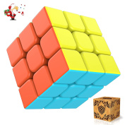 Rubiks Cube, [2017 New Version] Splaks Magic Cube 3x3x3 Smooth Speed Magic Cube Puzzle and Easy Turning, Super Durable with Vivid Colourful Cube for Brain Training Game or Holiday Gift