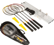NEW 4 PLAYER BADMINTON SET WITH RACKET NET SHUTTLECOCK OUTDOOR GARDEN FAMILY GAME SPORT WITH CARRY BAG