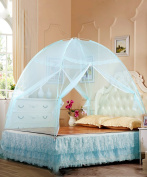 Living room curtains bedroom curtains Zipper Princess Mosquito Net Two Doors Open Thick Stainless Steel Mosquito Net Continental curtain cotton curtains