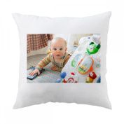 Baby, Cute, Child, Happy, Toddler, Toy Pillow Cover