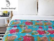 Home Decor Vintage Kantha Quilt, Indian Blanket, Handmade Quilt, Bohemian Bedding, Children Quilt Coverlet, Reversible Cotton Throw, Kantha Bedding, Indian Bedsheet, Throw Blankets, Bohemian Bedspread
