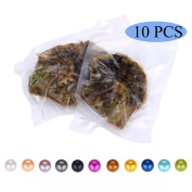 HENGSHENG 10 PCS Saltwater Akoya Pearl Oyster 6-7 mm Pearl Inside Jewellery Making Charms(bcpo003-10)
