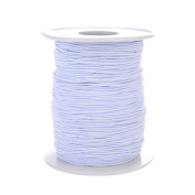Tubala 0.8 mm Elastic Cord Stretch Thread Beading Cord Fabric Crafting Thread White Elastic String for Jewellery Making Bracelet Beading Thread, 100 Metres