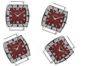 PlanetZia 2pcs Fancy Rectangle Ribbon Watch Faces for Your Interchangeable Beaded Bands TVT-4587