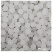 BEADTIN Ice Crystal Frosted 8mm Smooth Round Craft Beads