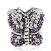 Butterfly Charm 925 Sterling Silver Beads fit for Fashion Charms Bracelets