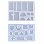 Mydio 2 Pack Silicone Resin Jewellery Moulds with Hanging Hole for DIY Jewellery Craft Making